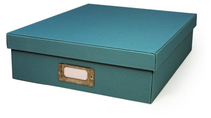 S/2 Document Boxes, Teal