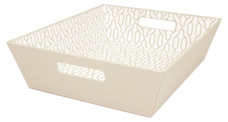 S/2 Tapered Trays, Cream