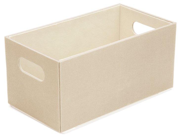 S/2 Open Top Boxes, Cream