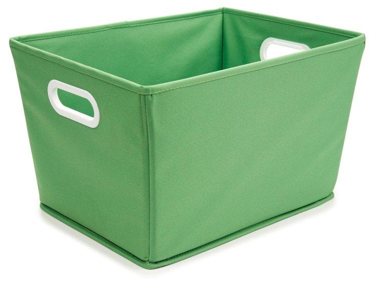 S/2 Lg. Tapered Bins, Green