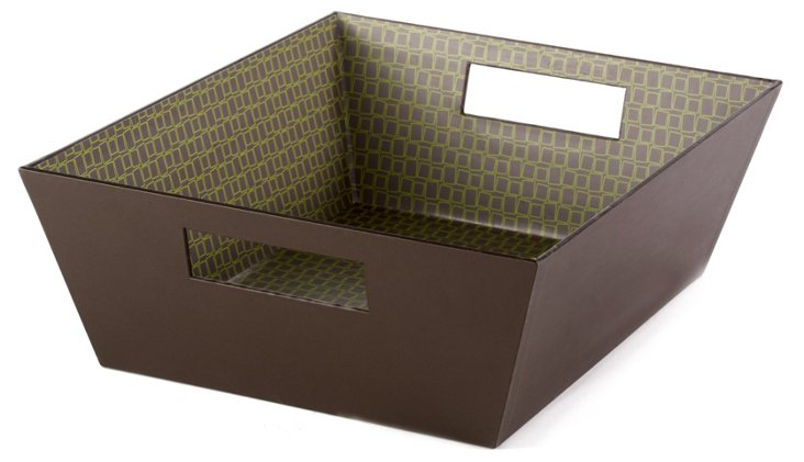 S/2 Green Square Tapered Trays
