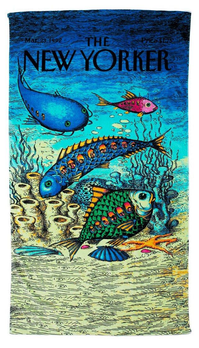 Condé Nast Beach Towel, Fish