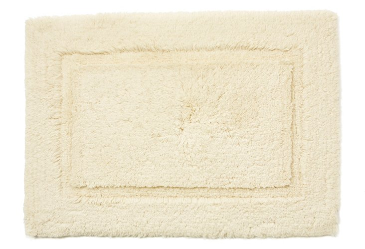 Egyptian Cotton Non-Slip Rug, Ivory