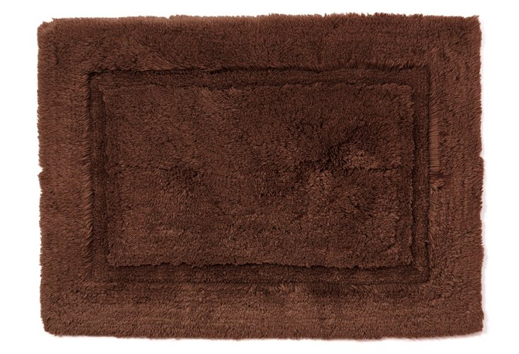 Egyptian Cotton Non-Slip Rug, Chocolate