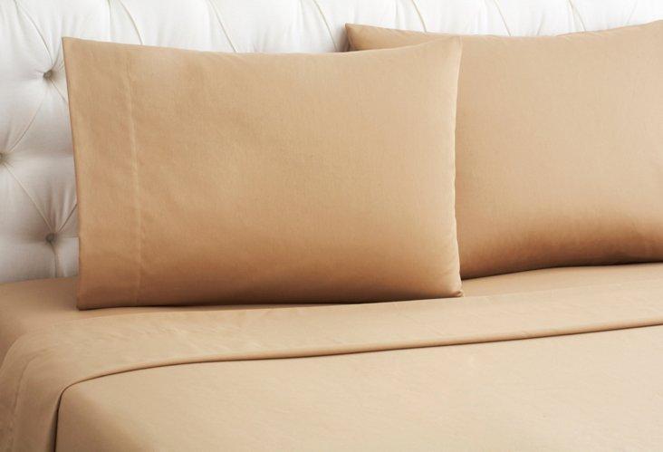 Wrinkle-Free Sheet Set, Camel