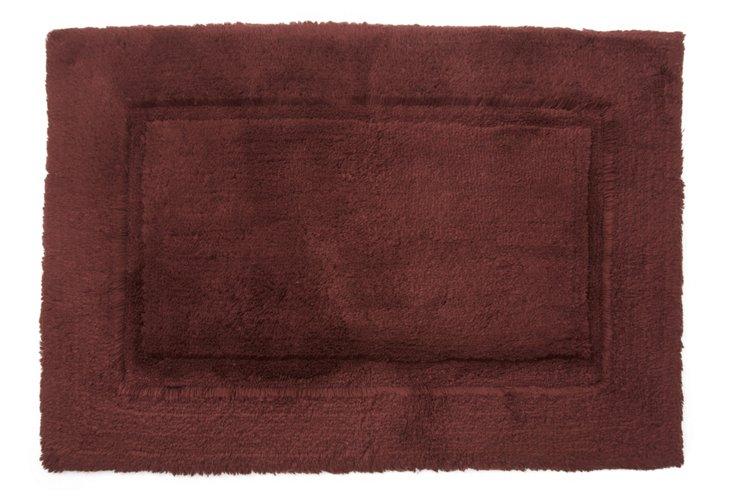 Large Egyptian Cotton Non-Slip Rug, Choc