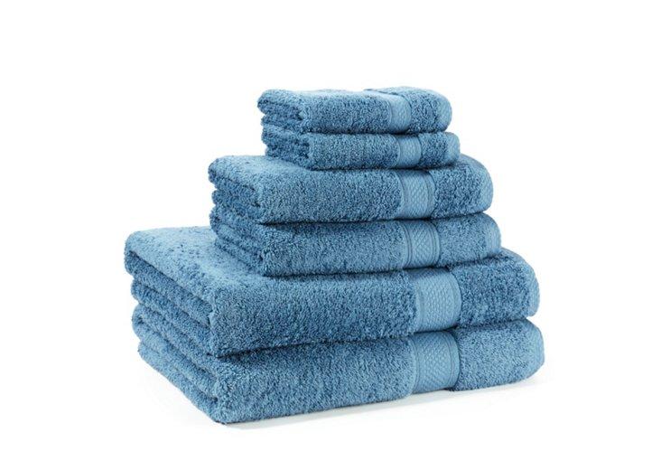 6-Pc Egyptian Cotton Towel Set, Teal