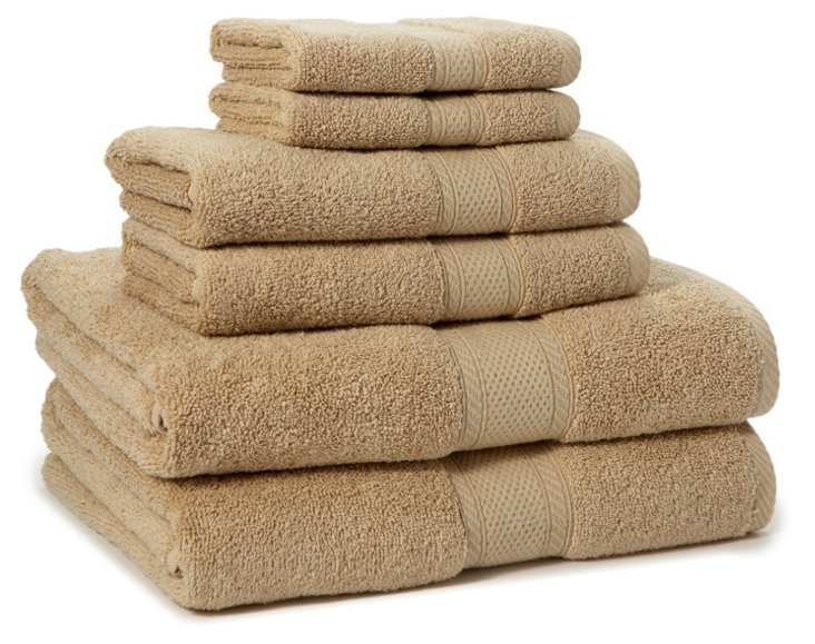 6-Pc MicroCotton Towel Set, Linen