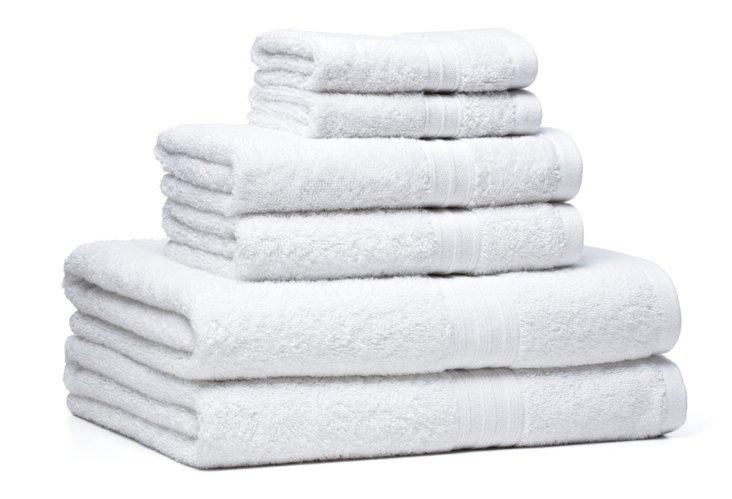 6-Pc Regenerated Towel Set, White