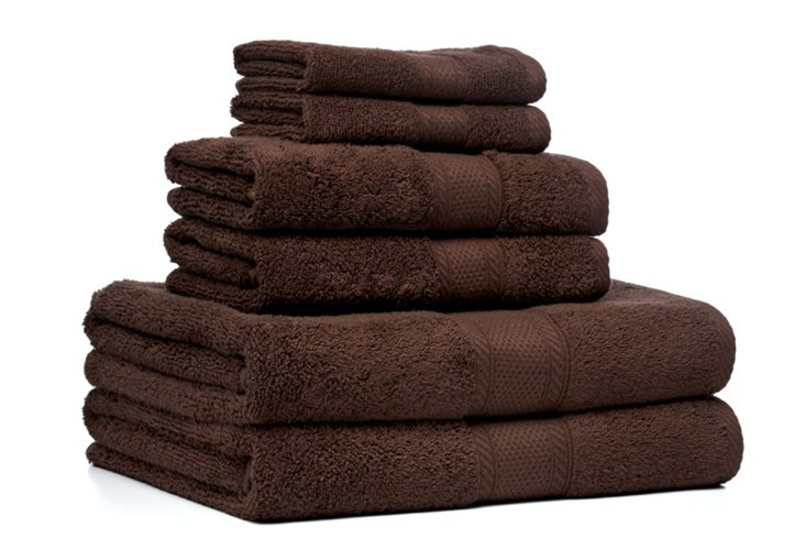6-Pc MicroCotton Towel Set, Chocolate