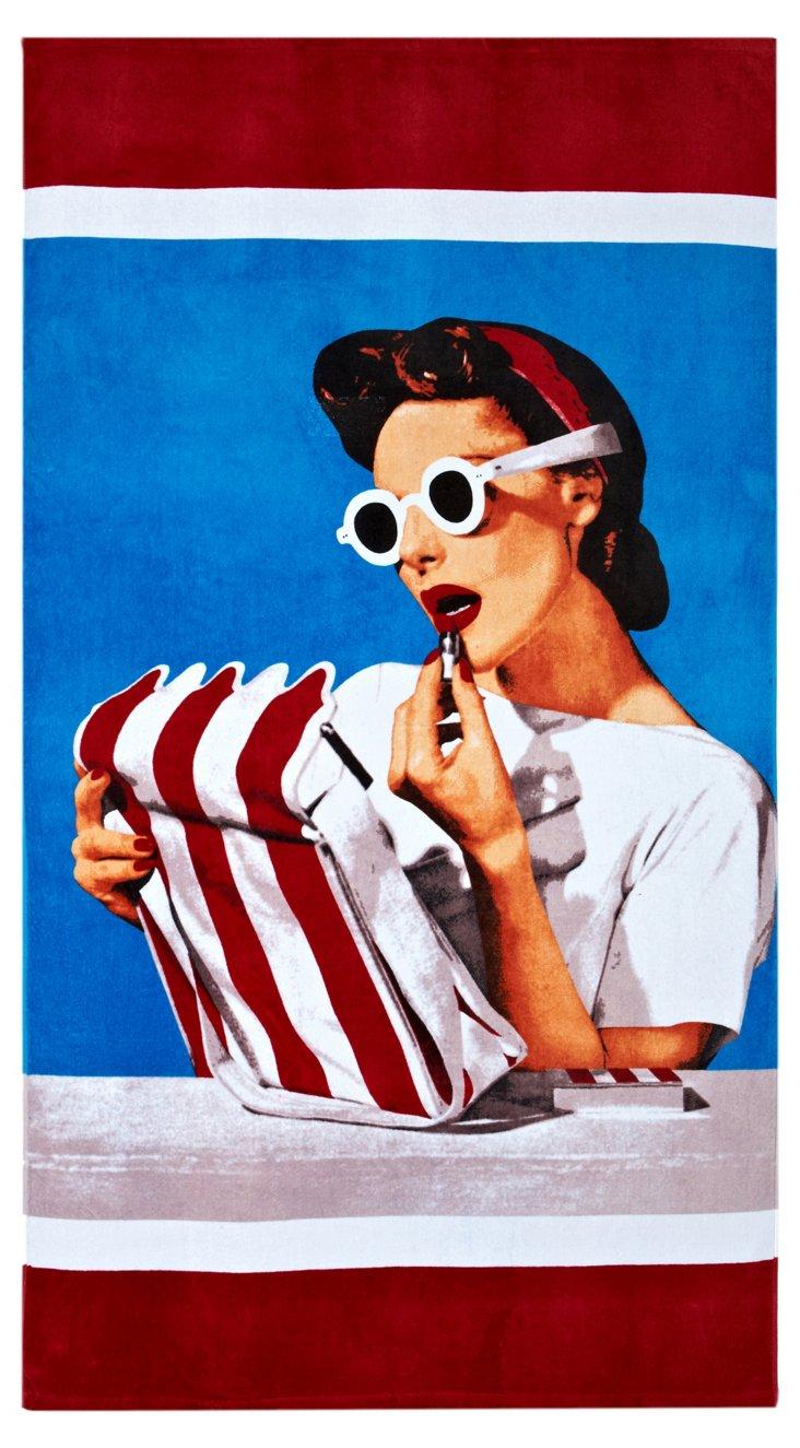 Condé Nast Beach Towel, Lipstick