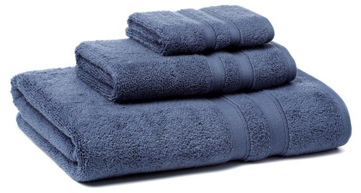 3-Pc MicroCotton Towel Set, Blue Dusk