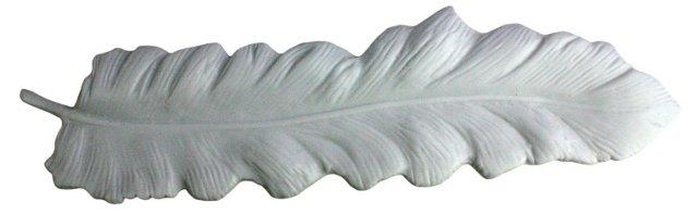 """16"""" Feather Tray, White"""