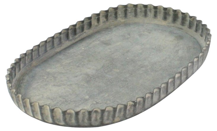 "S/2 7"" Ross Fluted Metal Trays"