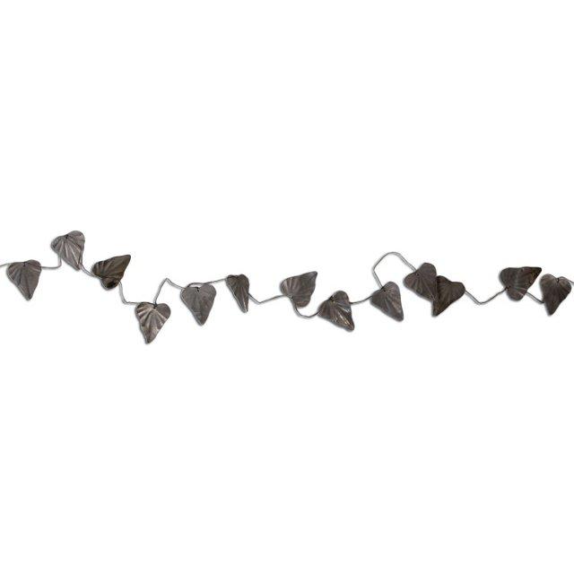 5' Leaf Garland, Silver