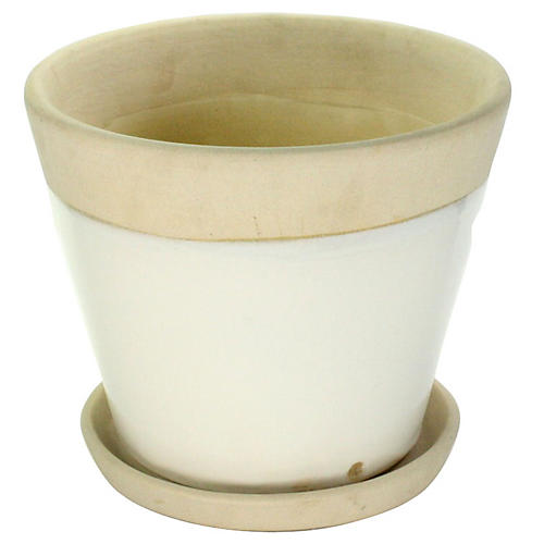 """10"""" Begonia Pot, White"""