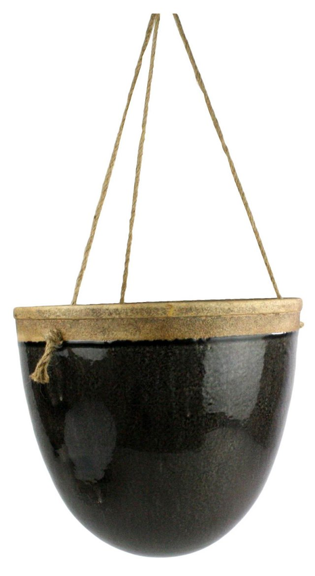 "12"" Mulberry Hanging Planter, Espresso"