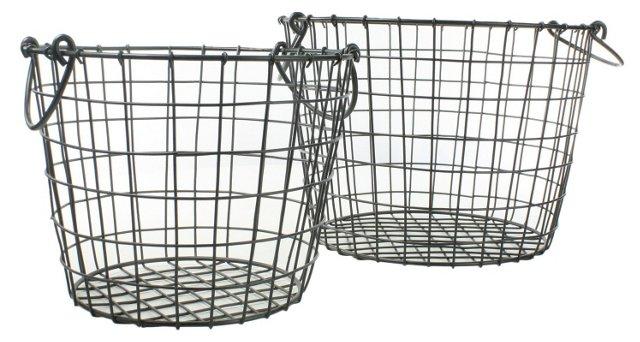 Asst of 2 Metal Baskets
