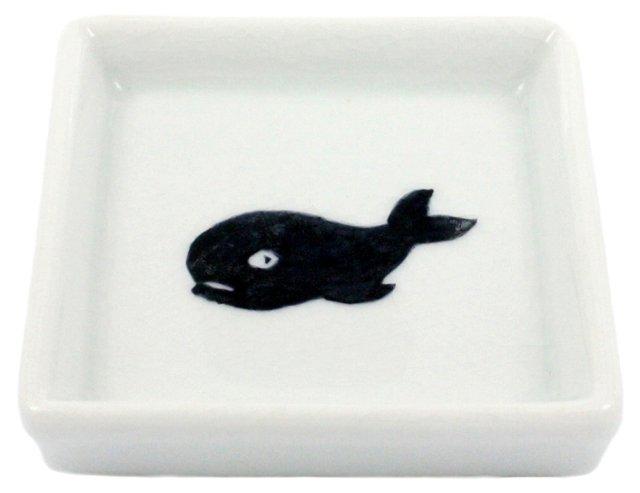 Oceania Ceramic Whale Tray, White