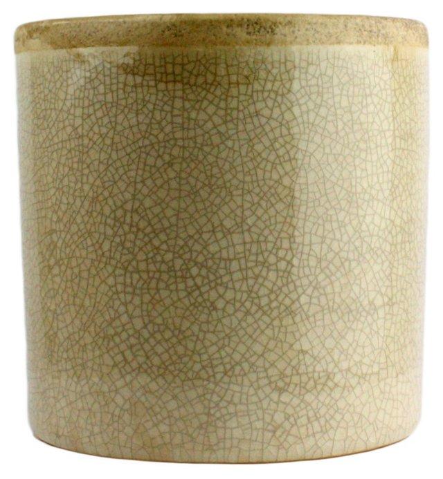 """6"""" Mulberry Ceramic Vase, White"""