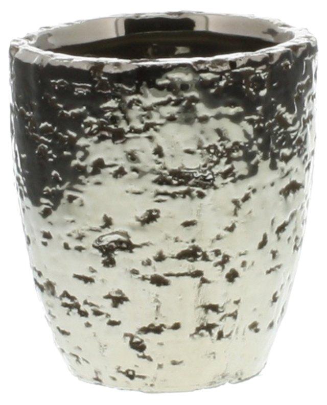 """4"""" Pyrite Ceramic Cup, Matte Silver"""