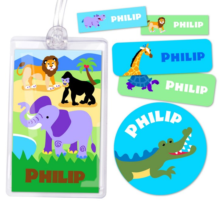 Wild Animals Personalized Camp Kit