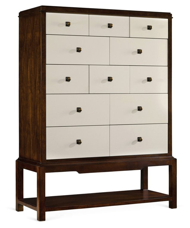 "Palisade 42"" Dresser, White/Brown"