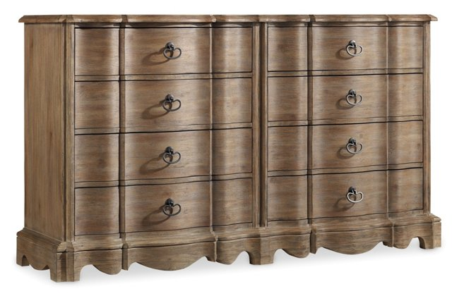 Hilary 8-Drawer Dresser, Cashew