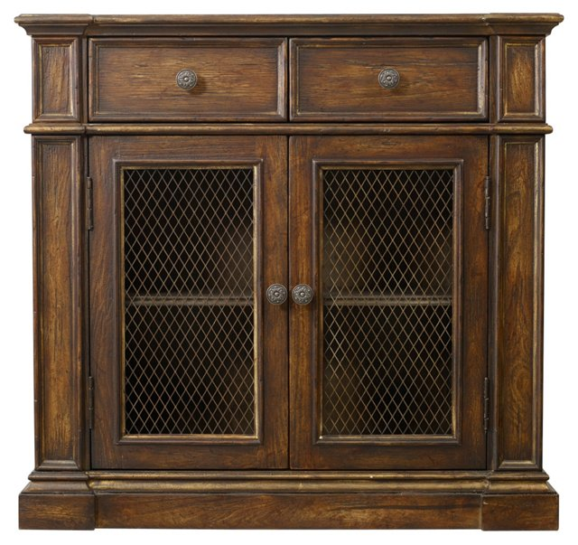 Madison 2-Door Cabinet, Chocolate/Gold