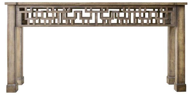 "Tris 68"" Cutwork Console Table"