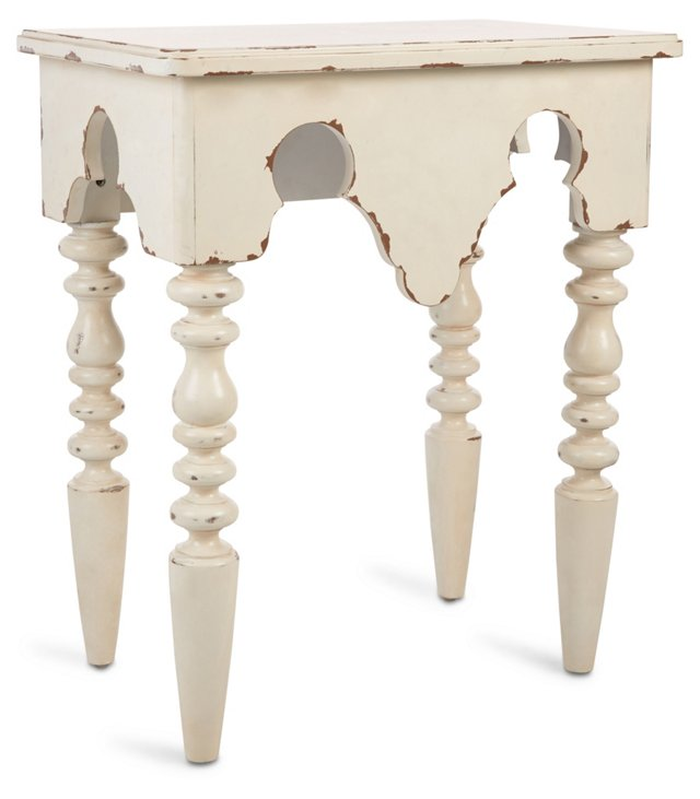 """Lee 24"""" Nightstand, Antiqued White"""