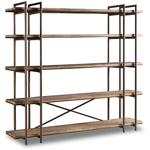 "Scaffold 86"" Bookcase, Natural"