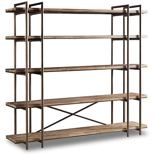 """Scaffold 86"""" Bookcase, Natural"""
