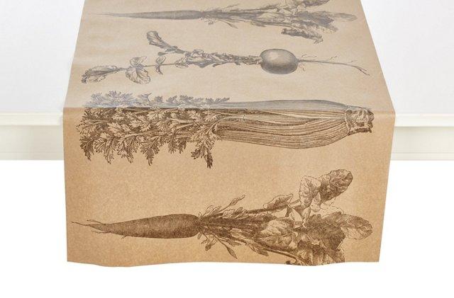 Vegetables Paper Table Runner