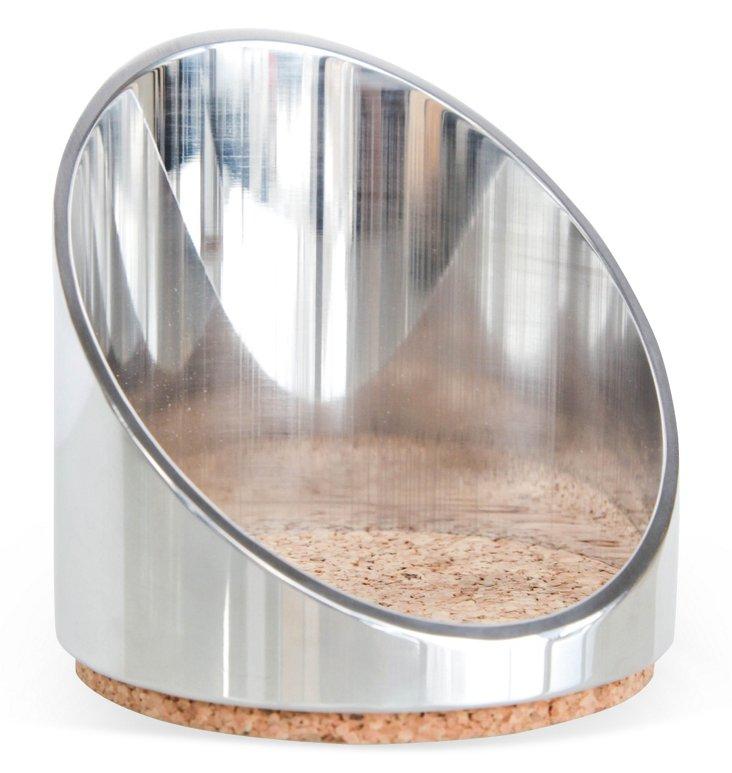 Aluminum Slant Wine Coaster