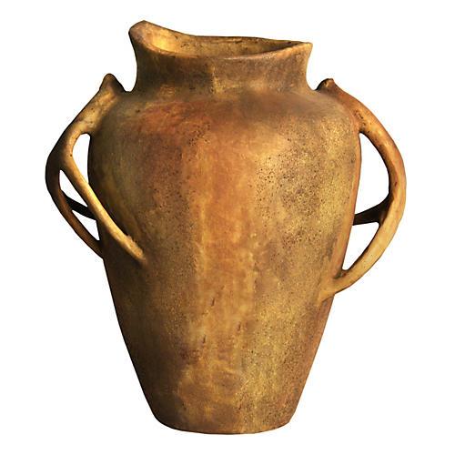 """24"""" Deer-Horn-Handle Pot, Sandstone"""