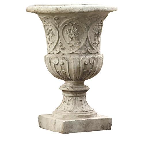 """25"""" Lippie Urn, Cathedral White"""