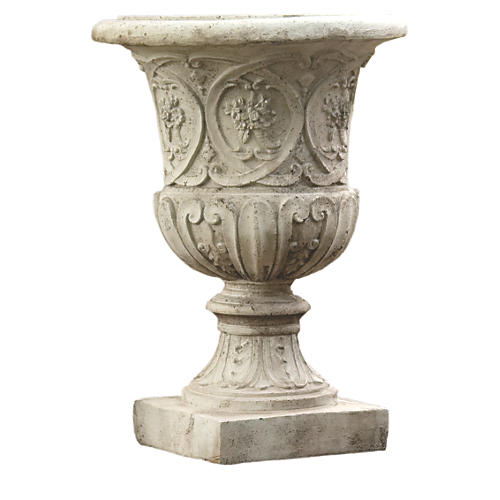 "25"" Lippie Urn, Cathedral White"