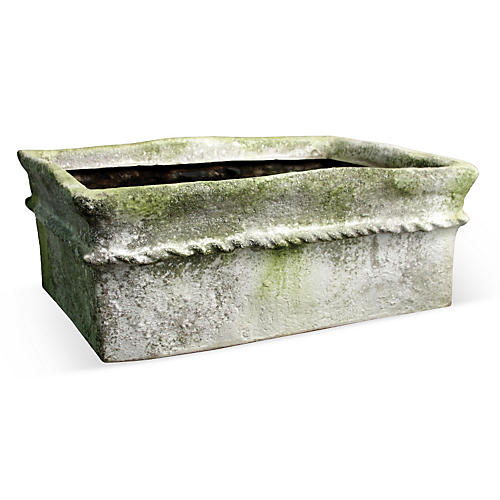 "23"" Gema Planter, White Moss"