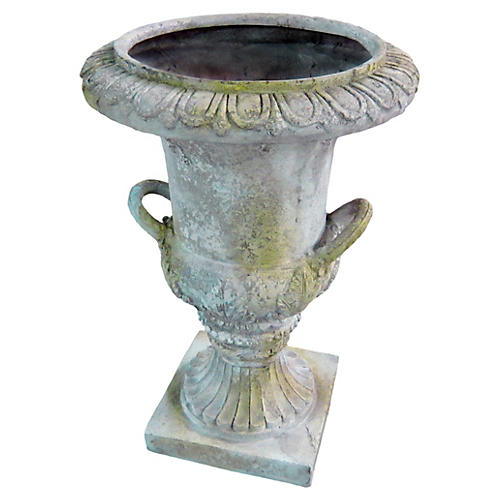 "31"" Campiania Handle Urn, White Moss"