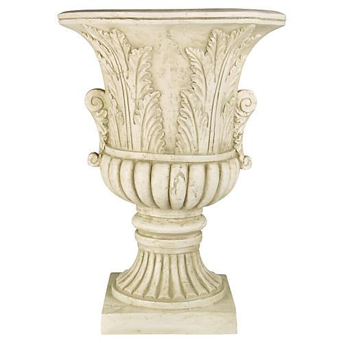 "30"" Acanthus-Leaf Urn, Antiqued Stone"
