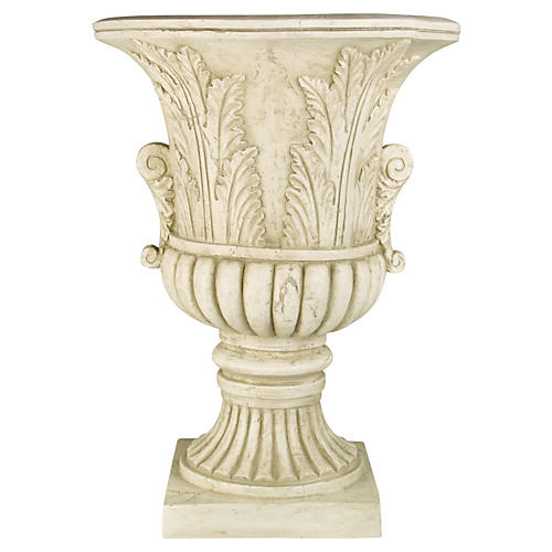 "30"" Acanthus-Leaf Urn, Antiqued Stone"