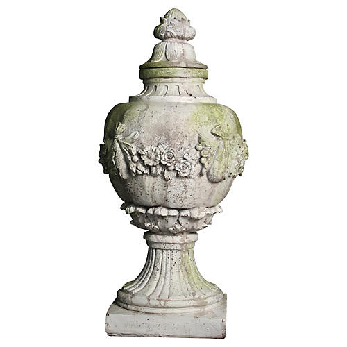 "31"" Tower Wall Finial, Cathedral White"