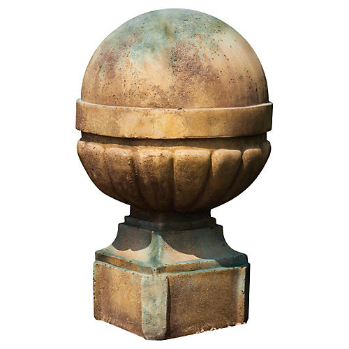 "21"" Palla Finial, Deep Sea"