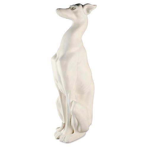 """30"""" Whippet Dog, White"""