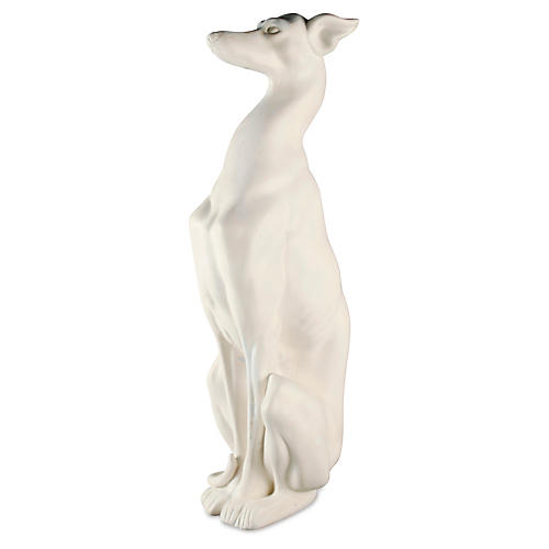 "30"" Whippet Dog, White"