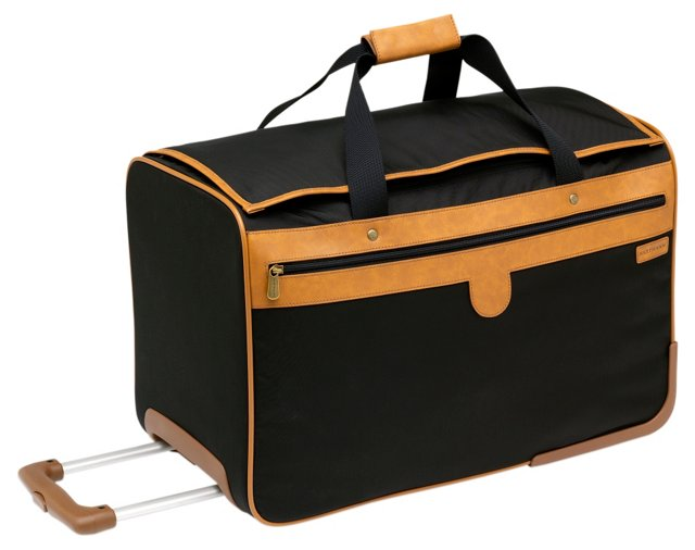 "21"" Wheeled Duffel Carry-On, Black"