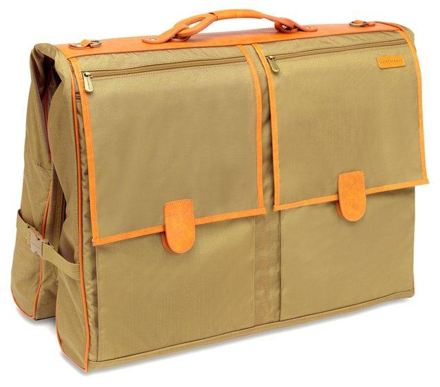 "20"" Deluxe Garment Bag, Khaki"