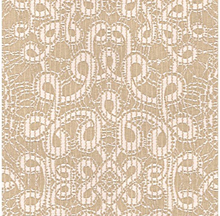 Curlycue Fabric, Blonde