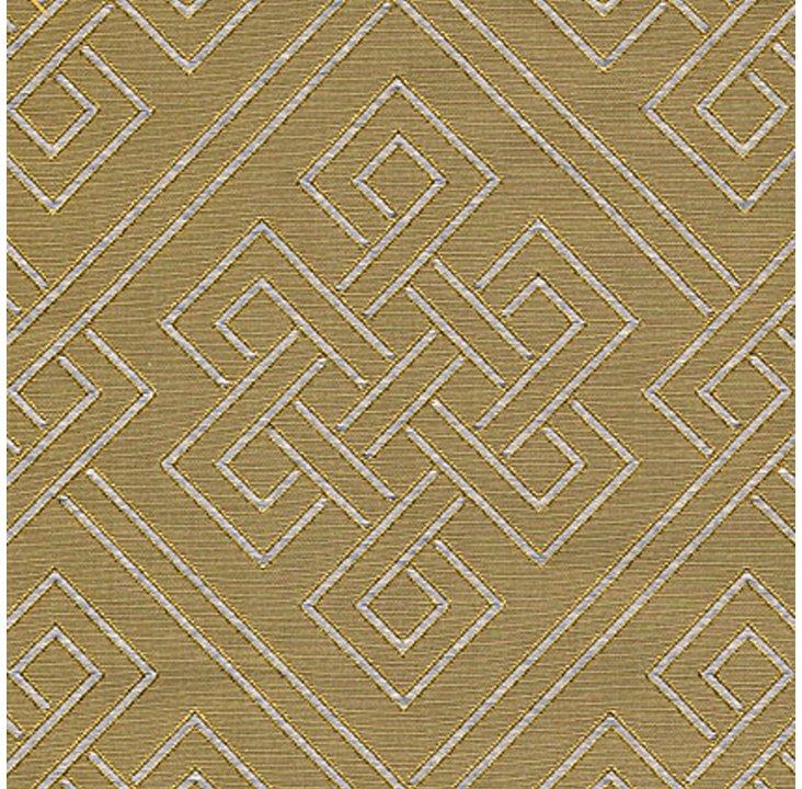 Endless Knot Silk Fabric, Celadon
